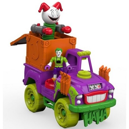 Игровой набор The Joker Surprise (машина и фигурка) DC Super Friends Imaginext