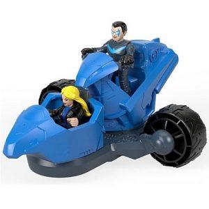 Игровой набор Трансформирующий мобиль Nightwing & Transforming Cycle DC Super Friends Imaginext