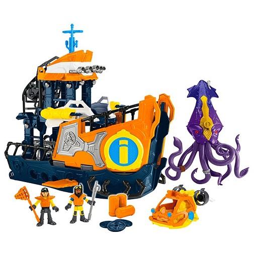 Набор Командный корабль Deep Sea Mission Command Boat Imaginext