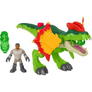 Набор фигурок Dilophosaurus & Agent Jurassic World Imaginext